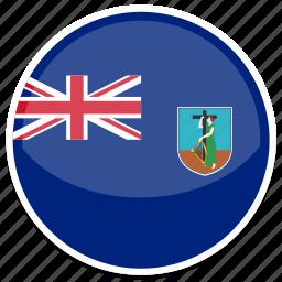 circle, flag, flags, montserrat, round icon