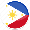 philippines, flag, country, flags, world, nation, national icon