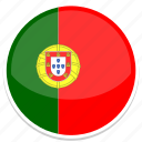 circle, flag, flags, portugal, round icon