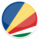 circle, flag, flags, round, seychelles icon