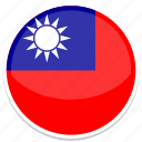 taiwan, flag, nation, national, country, flags, world icon