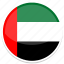 arab, united, emirates, country, nation, flag, flags icon