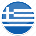 circle, flag, flags, greece, round icon