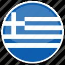 circle, flag, flags, greece, round icon