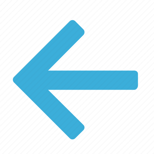 arrow, blue, direction, gps, left, navigation, pointer icon