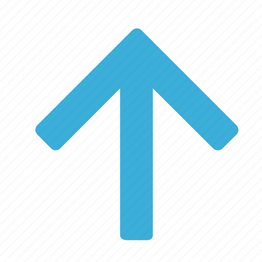arrow, blue, direction, gps, navigation, pointer, up icon
