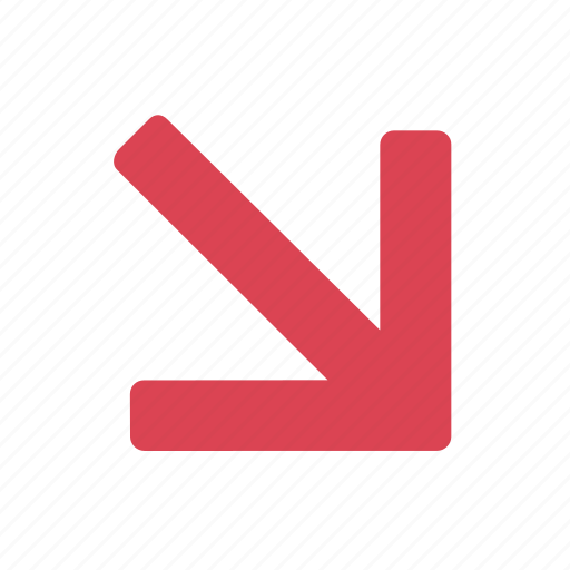 direction, down, gps, marker, navigation, trend icon