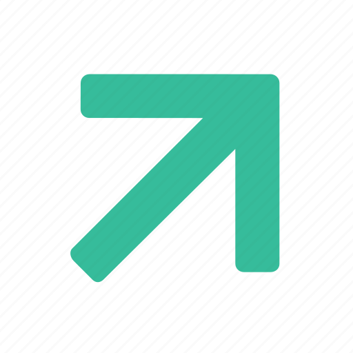 direction, gps, navigation, pointer, trend, up icon