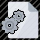 dll, document, file, gear icon