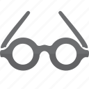 glasses, object, view, watch icon