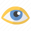 eye, imaging, show, visible icon