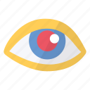 anti, avoidance, eyes, graphics, imaging, red, tool icon