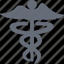 caduceus, hospital, logo, medecine icon