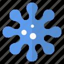 object, color, flake, snowflake, virus