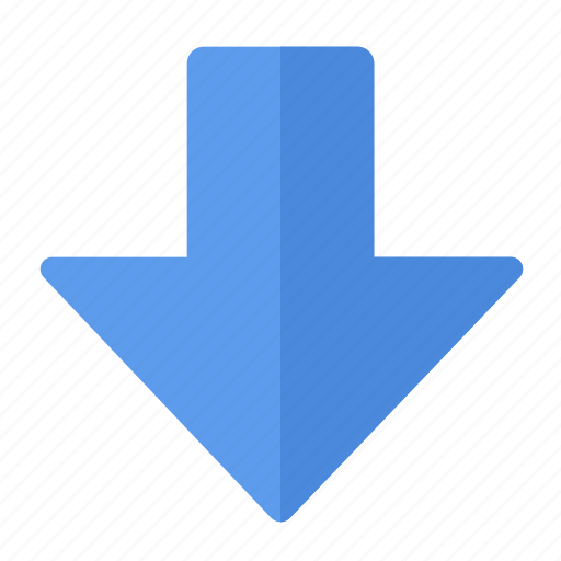 action, arrow, direction, down, gps, location, navigation icon