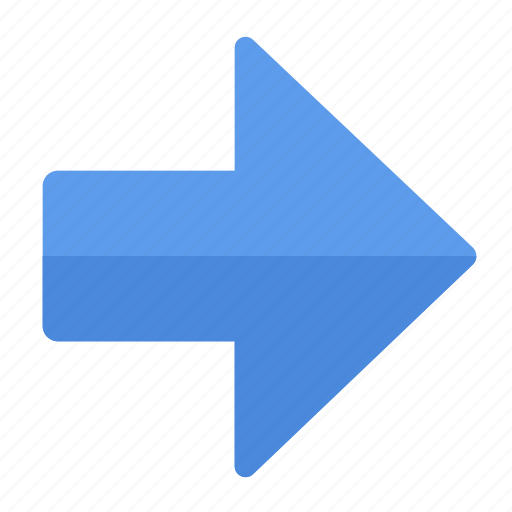action, arrow, direction, gps, location, navigation, right icon