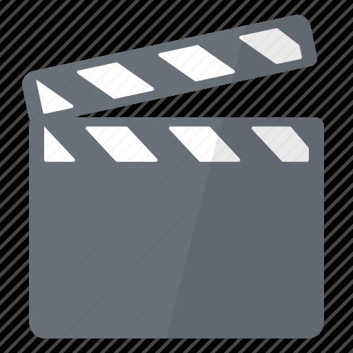 action, clap, film, filming, movie, multimedia icon