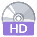 disc, film, format, hd, movie, quality, video icon