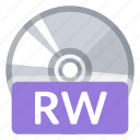 disc, file, format, multimedia, quality, rw, storage icon
