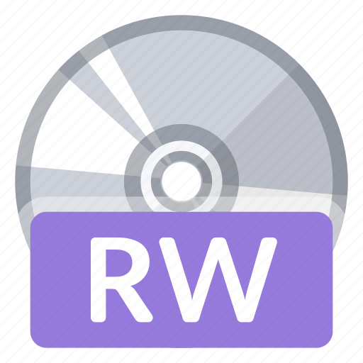 Disc, format, quality, rw, file, multimedia, storage icon - Download on Iconfinder