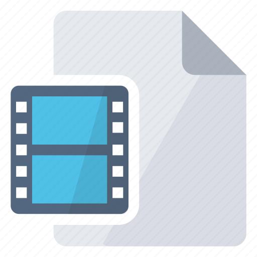 create, document, insert, movie, new icon