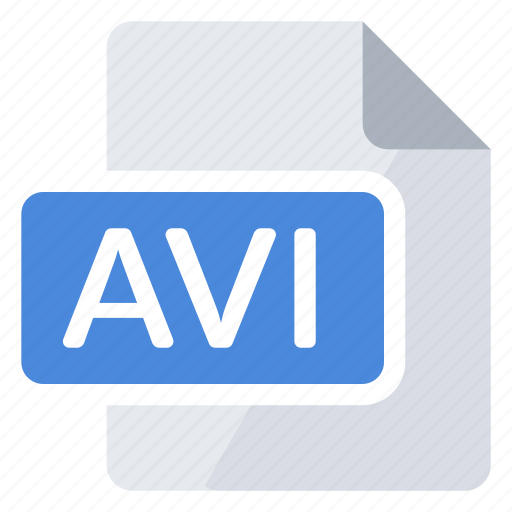 avi, create, document, extension, file, new, type icon