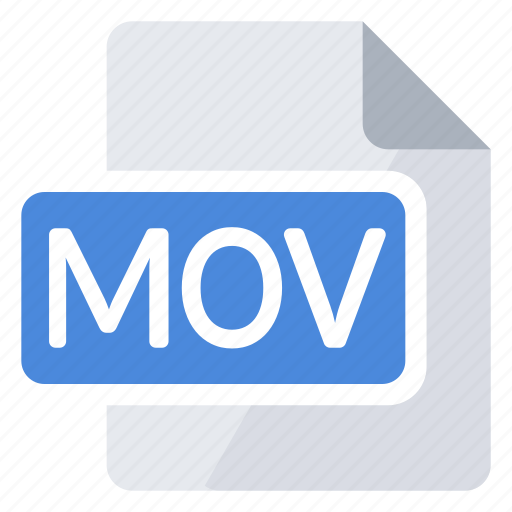 create, document, extension, file, mov, new, type icon