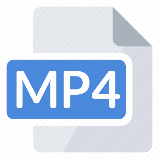 create, document, extension, file, mp4, new, type icon