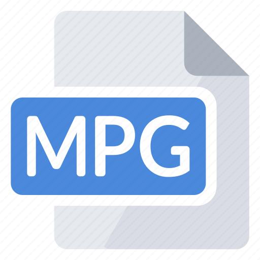 create, document, extension, file, mpg, new, type icon
