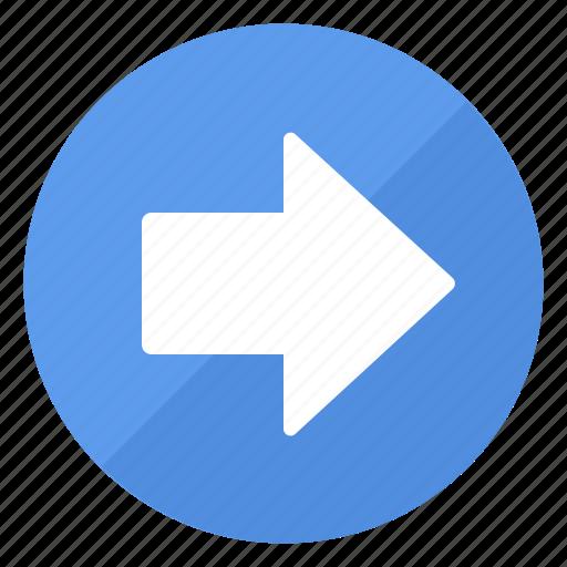 arrow, blue, btn, right icon