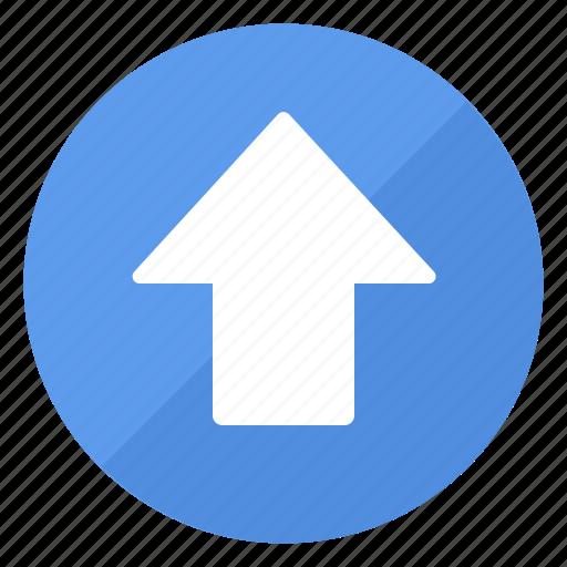 arrow, blue, btn, up icon