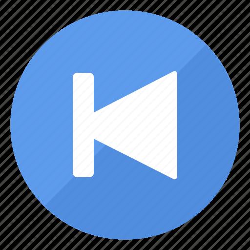 blue, btn, goto, previous icon