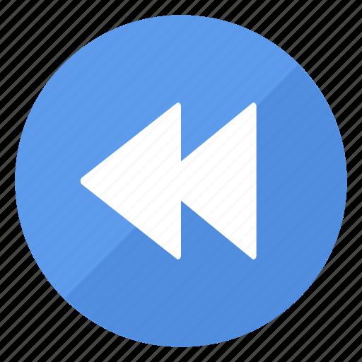 backward, blue, btn, play icon