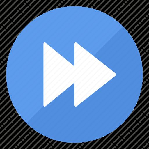 blue, btn, forward, play icon