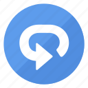 blue, btn, repeat icon