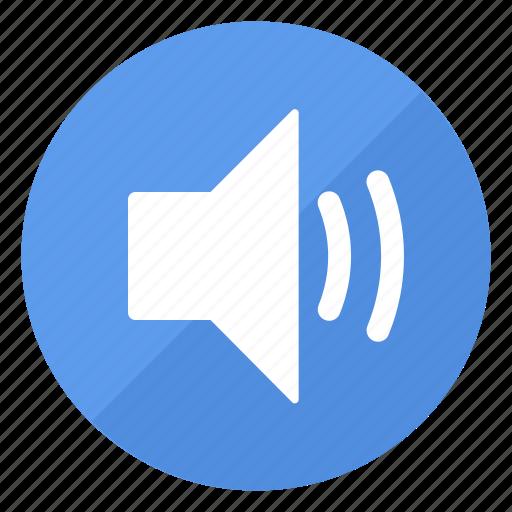 blue, btn, high, sound icon