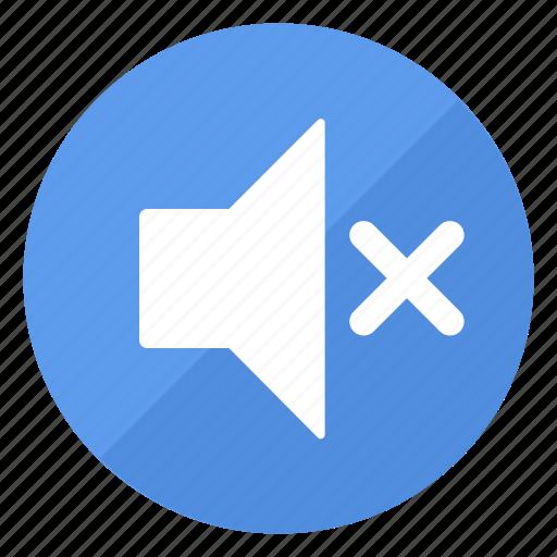 blue, btn, mute, sound icon
