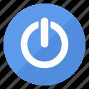 blue, btn, standby icon