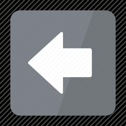 arrow, btn, grey, left icon