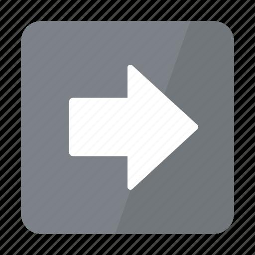 arrow, btn, grey, right icon