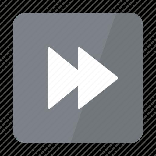 btn, forward, grey, play icon