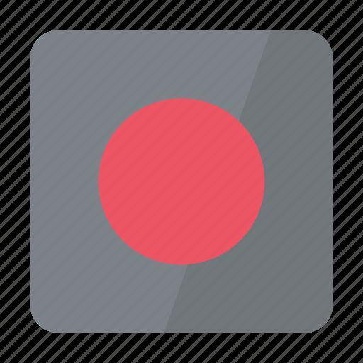 btn, grey, record icon