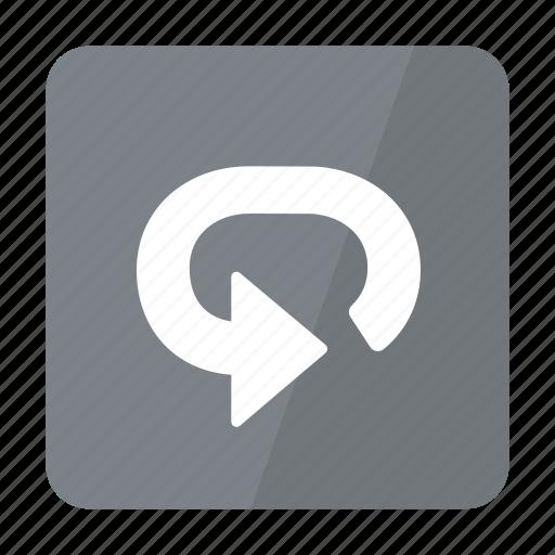 btn, grey, repeat icon