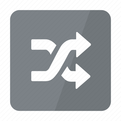Btn, grey, shuffle icon - Download on Iconfinder
