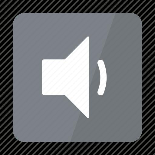 btn, grey, low, sound icon