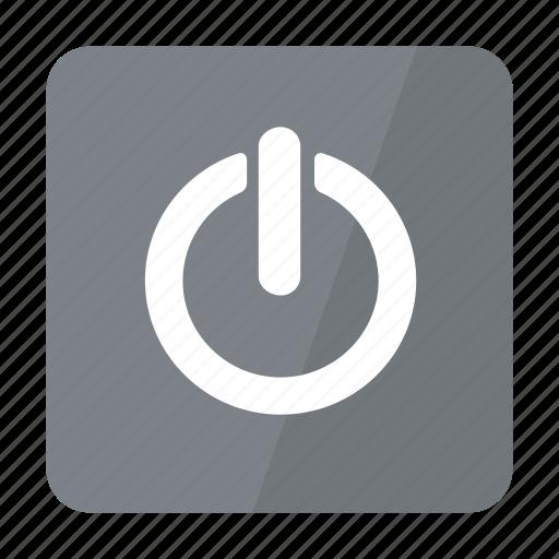 btn, grey, standby icon