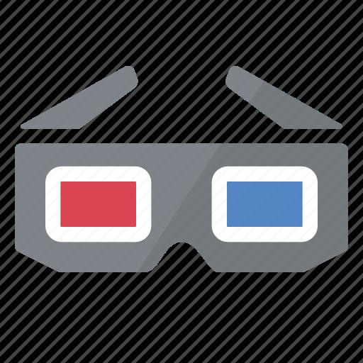 dimensions, glasses, three icon