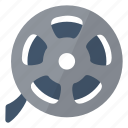 film, movie, multimedia, reel, roll icon