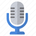 micro, radio, record, retro, sound, voice icon