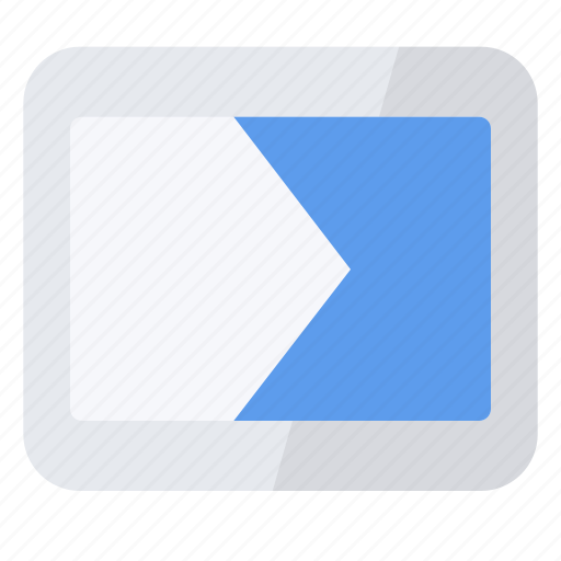 slide, transition icon